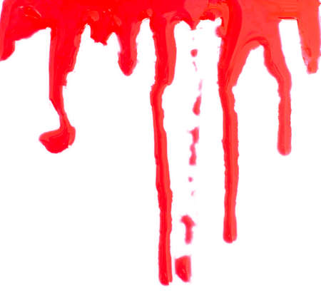 Halloween concept : Blood dripping photo