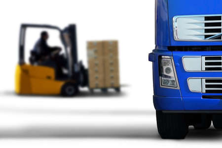 shipping supplies: blue transport