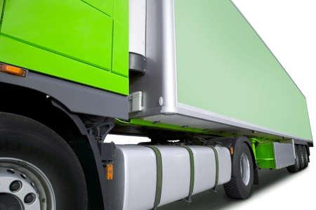 green semi truck