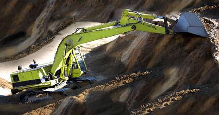 green excavator Stock Photo - 3312515