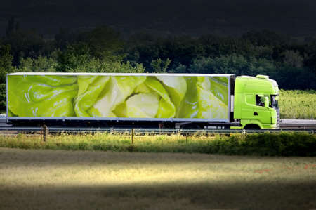 shipping supplies: green truck