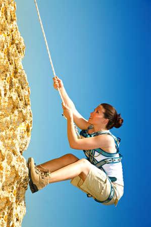 rockclimber: acrobat girl