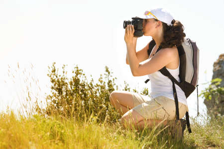 brune: woman photographer in the country