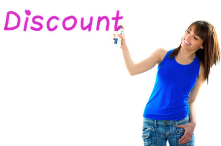 favours: brown girl writing discount prices Stock Photo