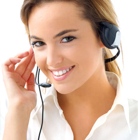 young woman with headphones photo