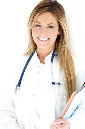 doctora: Beautiful m�dico femenino Foto de archivo