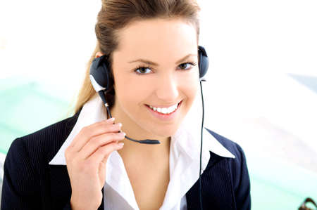 with headset Stock Photo - 5528673