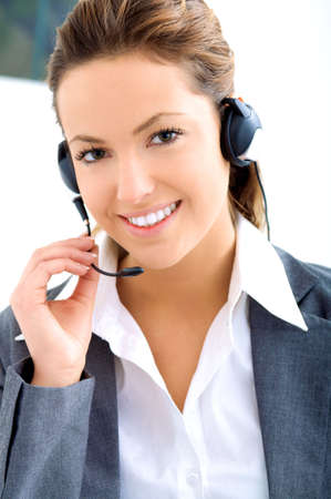 young assistant operator Stock Photo