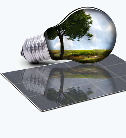 solarlamp Stock Photo
