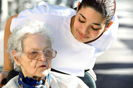 helping an old woman Stock Photo - 6961305