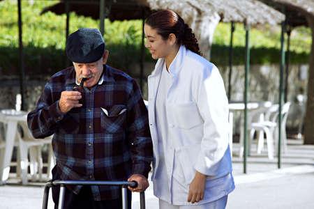 personel helping senior