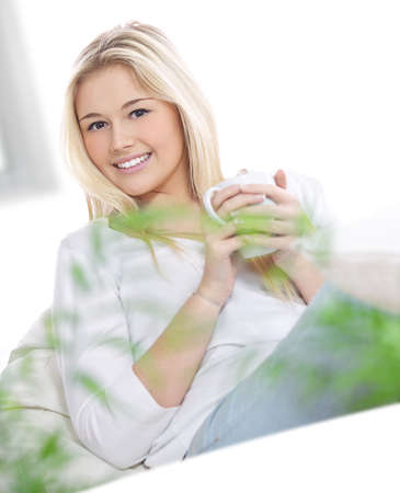 young blond woman photo