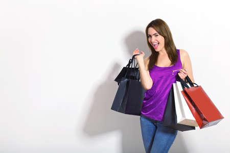 young woman doing shopping Stock Photo