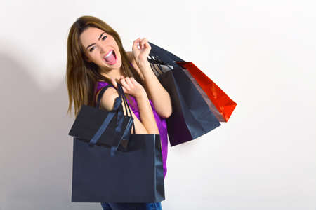 young woman doing shopping photo