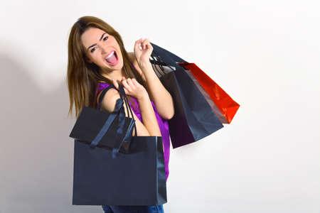 young woman doing shopping photo