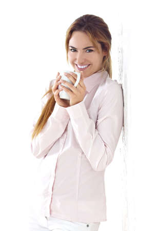 young woman with cup of coffee Stock Photo - 9986687