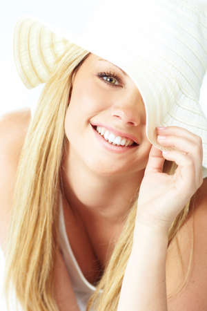 portrait of blond girl