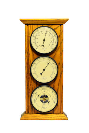 Thermometer, Barometer and Hydrometer Stock Photo