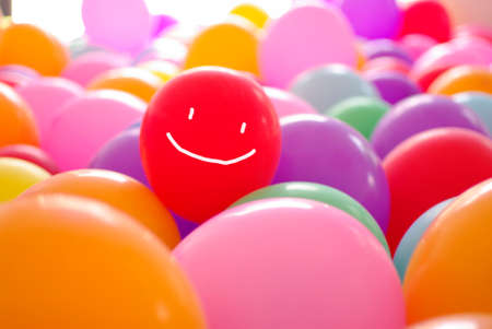 smile happy face coloful balloon illustartion photo