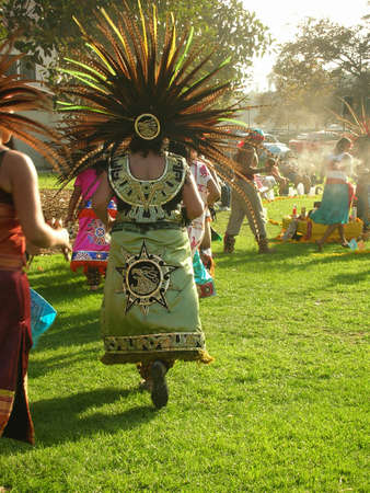 day of the death dancing at sunset