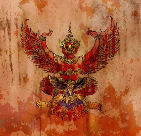 ramayana: Garuda, Thai mythology eagle or bird Stock Photo