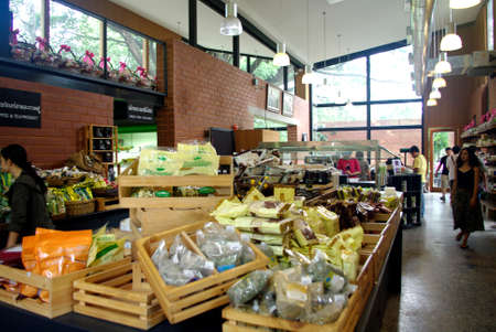 organic supermarket Редакционное