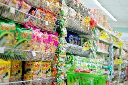 슈퍼마켓, 인스턴트 국수와 건조 재료에 음식의 행