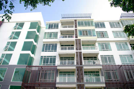condominium: modern condominium, apartment with white and lot of glass