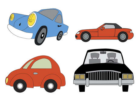 car cartoon vector Vector