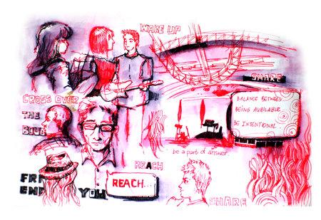 familia cristiana: la gente en la ilustraci�n de la iglesia Editorial