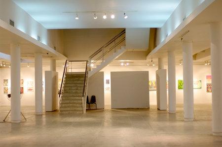 white art gallery