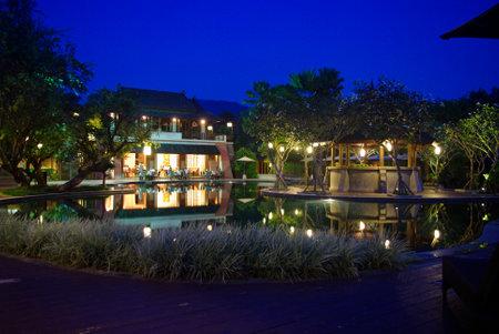beautiful tropical resort architecture lighting