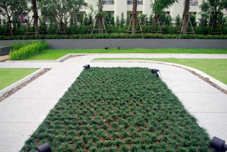 condominium garden design, landscape planning photo
