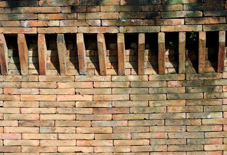 wall design: castle brick wall design detail