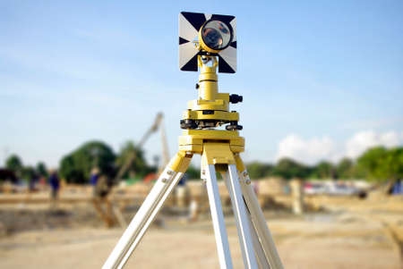 engineer and architecture yellow theodolite camera photo