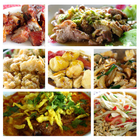 Mixed thai food in collage  All mixed taste and flavor of best cuisine of the world photo