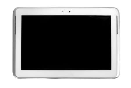 isolate white tablet and black screen photo