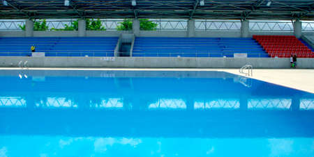 sky diving: Olympic standard Swimming and diving Pool