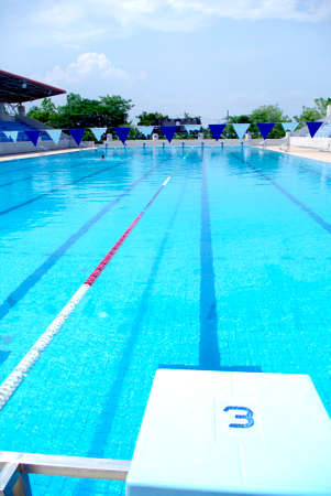 to lap: sports competition standard Swimming and diving Pool Editorial