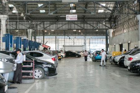 car care, fixing at dealer auto shop