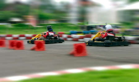 speed go carting, abstract fast and competition photo