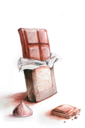 chocolate bar color drawing illustration illustration