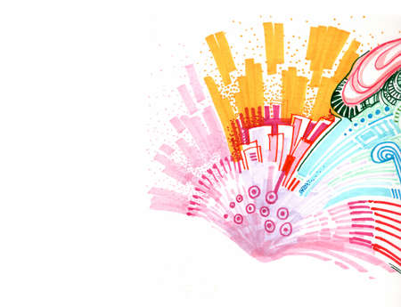 abstract colourful background hand drawn illustration illustration