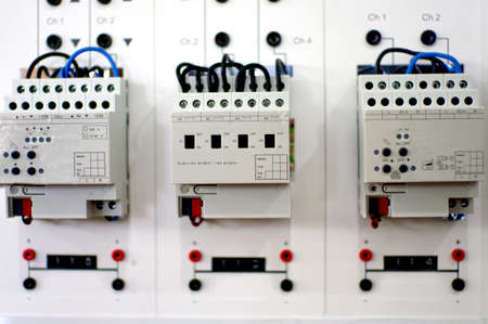 electric board system, KNX and home automation Banco de Imagens