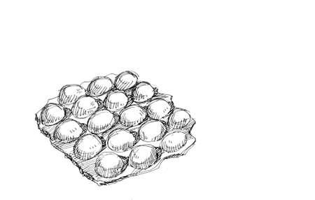 hong kong street: hong kong snack, waffle illustration