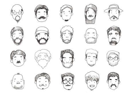 goatee: guys with beard style illustration
