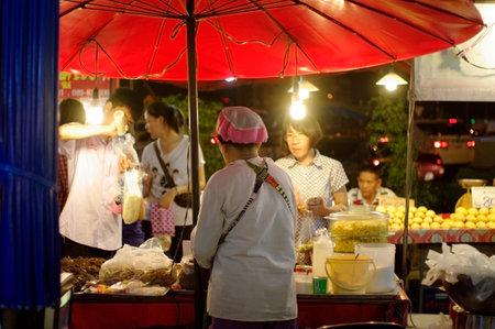 asia flea market at night, local food experience