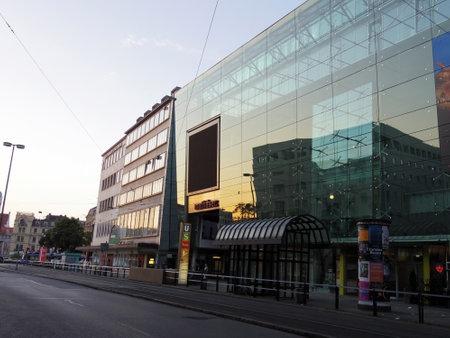 regular: regular street in Munich with modern shops