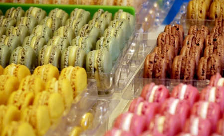 coloful: macaron coloful dessert, french icon