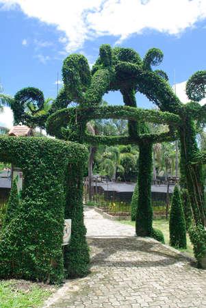 garden tree gazebo, Fantasy entrance photo